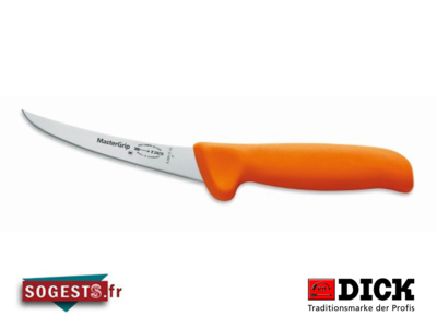 Couteau à désosser DICK MASTERGRIP lame courbée rigide 15 cm manche orange